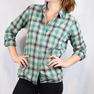 Duluth Trading Co. Plaid Button Up Flannel Sz M